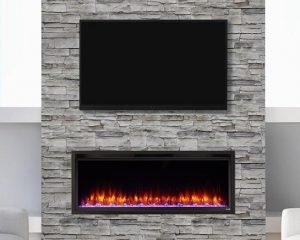 Simplifire Linear Electric Fireplace Modern
